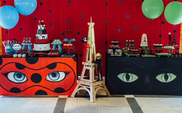 Decoração mesa de doces Festa Lady Bug